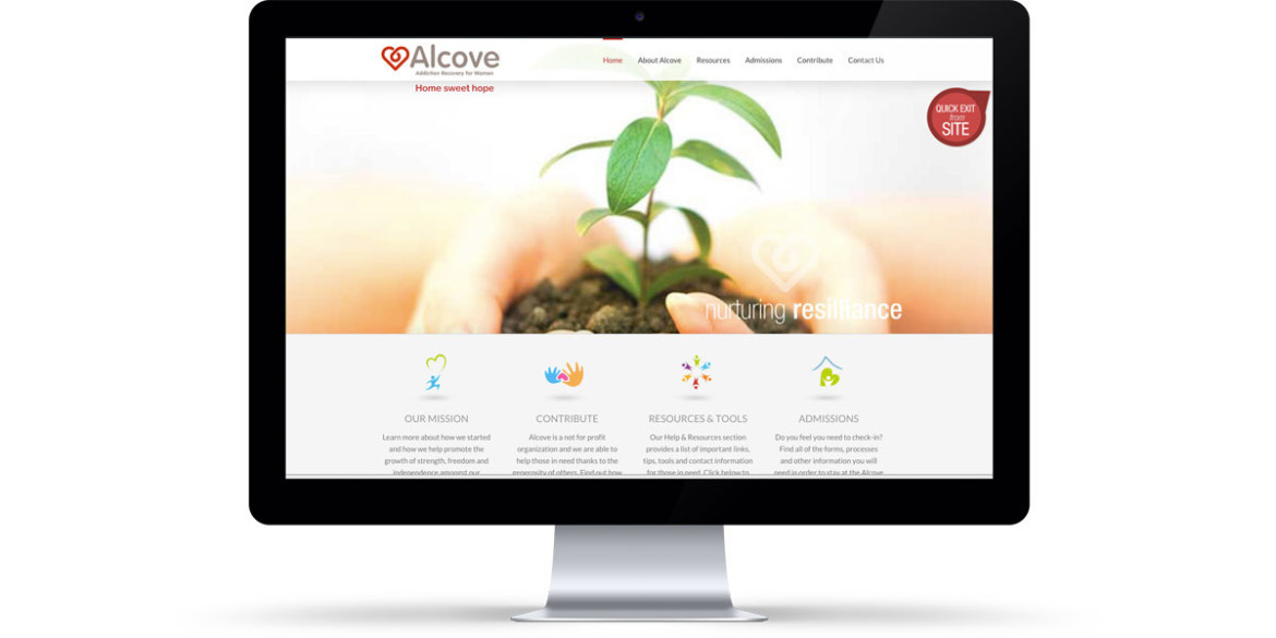 Bruce Robertson, Portfolio Website Development, Alcove Addiction Recovery for Women
