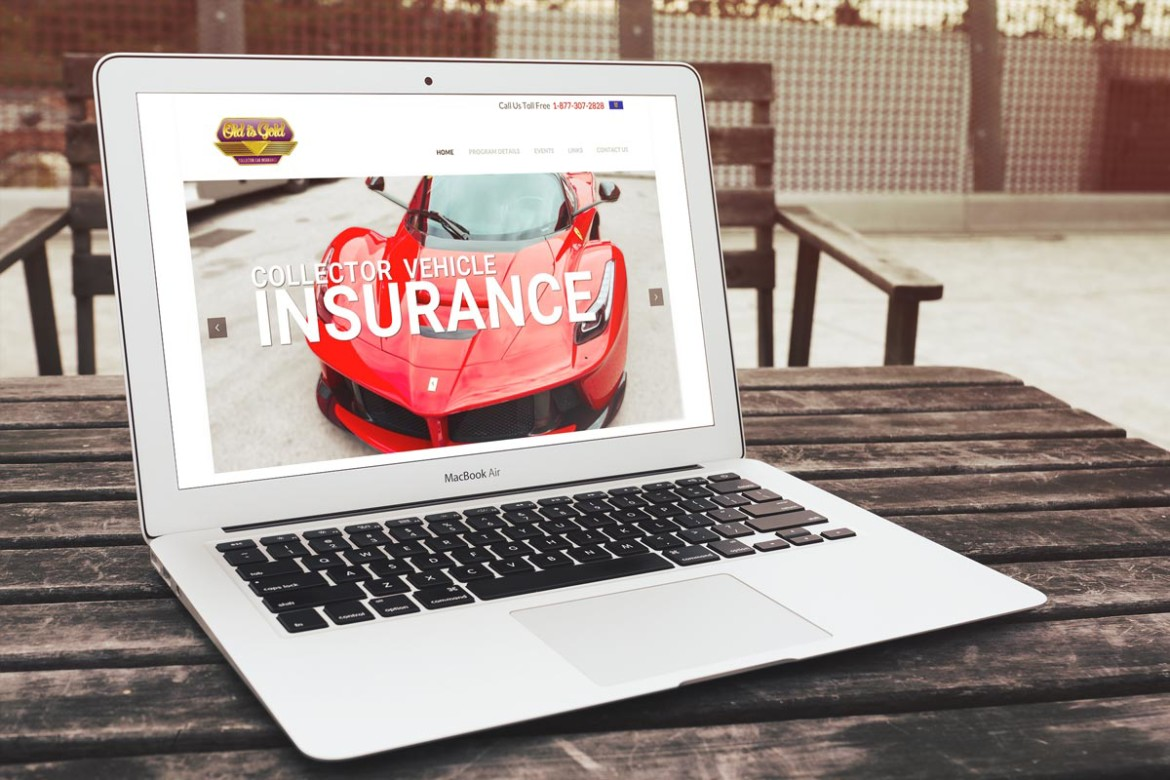 Bruce Robertson Portfolio, Website Old is Gold Car Insurance